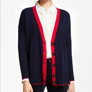 Boden Corinne wool blend cardigan in navy